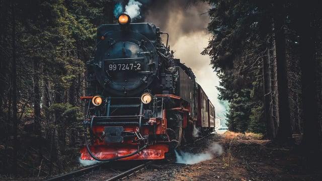 Trains, Train Stations, Railroads And Music