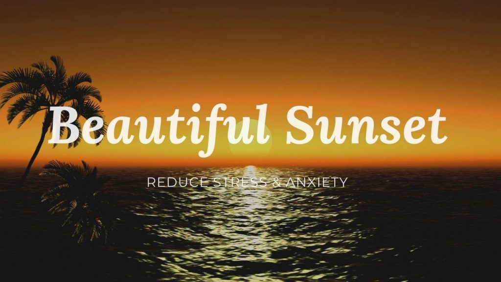 Beautiful Tropical Sunset Relaxation Video